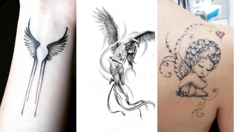 20 Meilleurs Petits Motifs Tendance Tattoo 2019 Magnifique Tatouage Petit Ange Pour Tout Age Des Illustrations